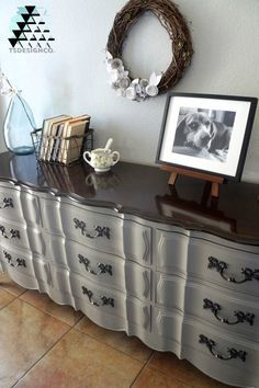 French Provincial Furniture Painted With Annie Sloan Chalk Paint Linen And General Finishes Gel Stain Java