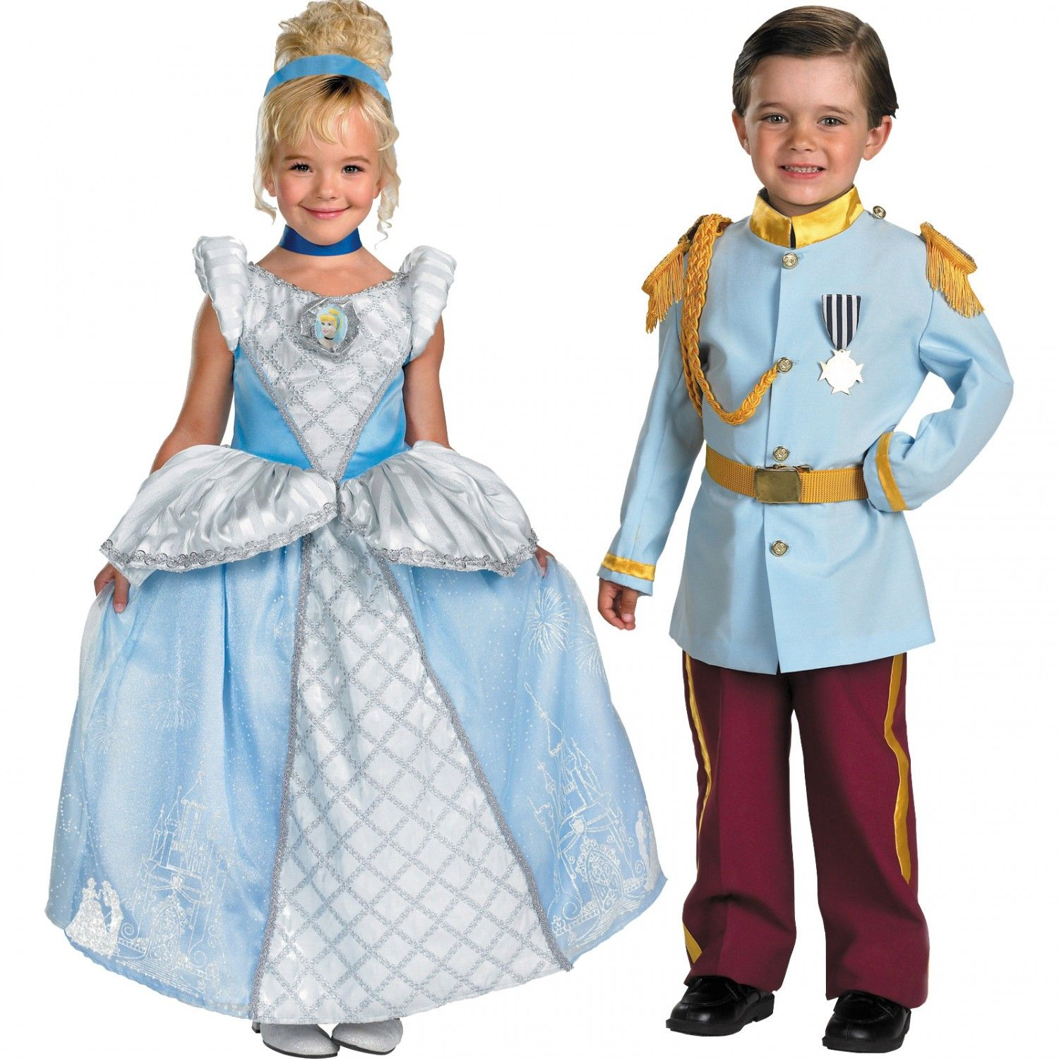 126d62ade24 Disney Cinderella and Prince Charming Child/Toddler Couples Costume ...