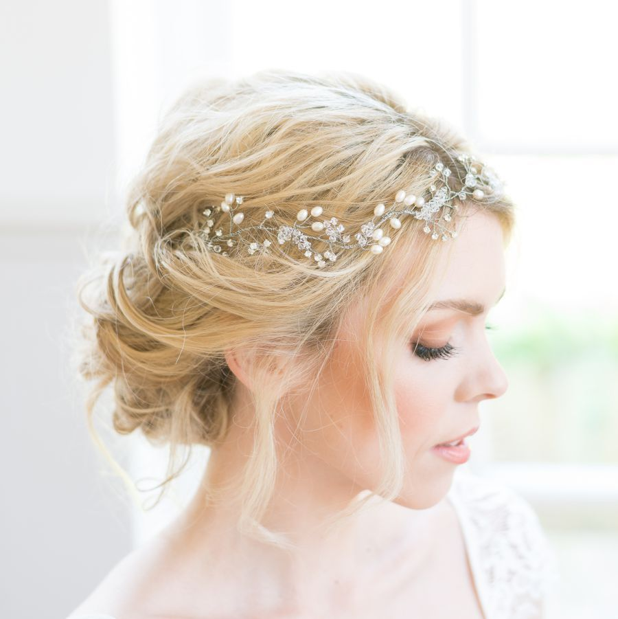 boho headpiece, wedding hair vine, boho wedding, gold bridal