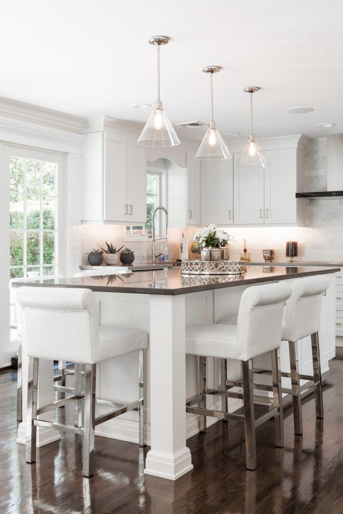 Arcadia White Maple Shaker Kitchen Bath Cabinets In 2020 Modern Kitchen Island Design Kitchen Design Contemporary Kitchen