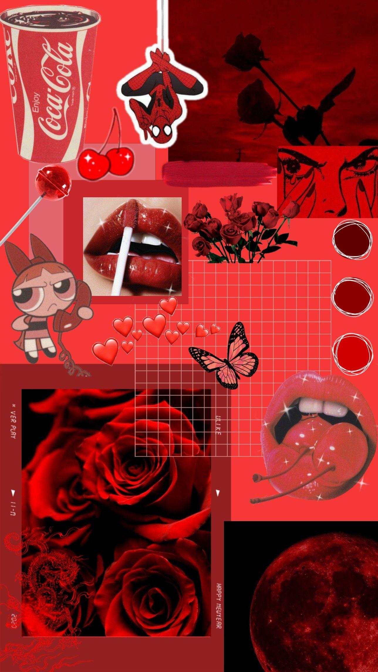 Red Aesthetic Wallpaper Peach Wallpaper Iphone Wallpaper Tumblr Aesthetic Powerpuff Girls Wallpaper