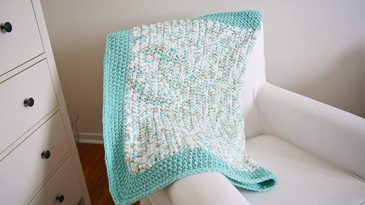 MANTA DE BEBE A CROCHET FACIL! | Danii\'s Ways ♡ | Crochet ...