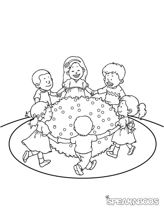 Coloring Pages: Ring Around the Rosie | Speakaboos ...
