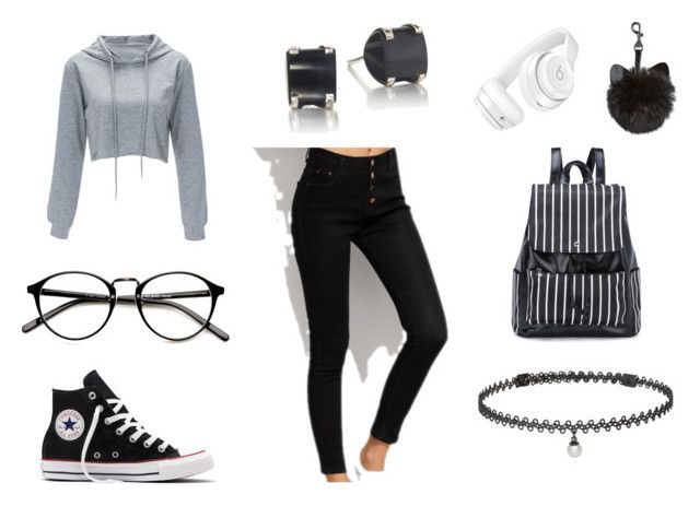"""""""Chic"""" by fashion-life4me ❤ liked on Polyvore featuring Converse, Beats by Dr. Dre and BERRICLE"""