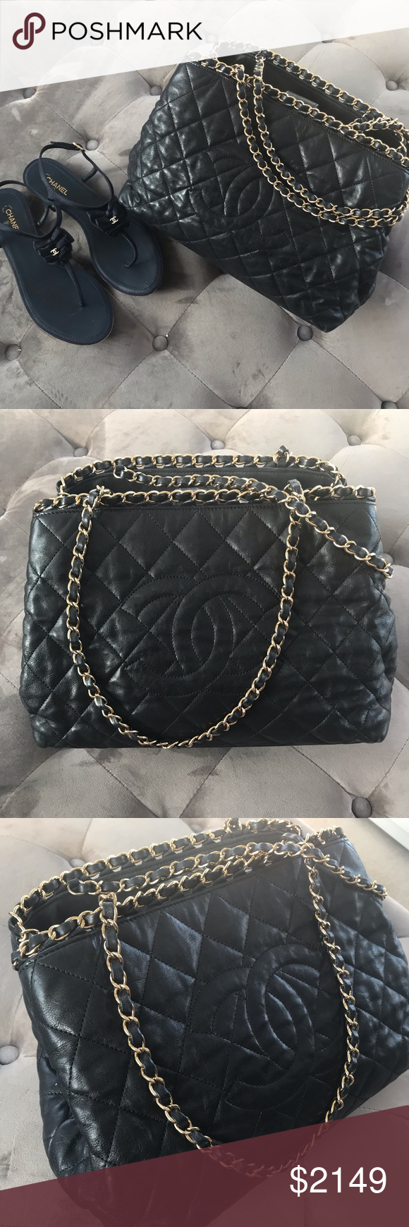 4e52c1d58858cc CHANEL Calfskin Quilted Small Chain Me Tote CHANEL Calfskin Quilted Small  Chain Me Tote black.