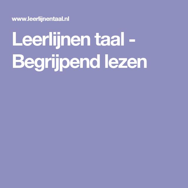 Leerlijnen taal - Begrijpend lezen