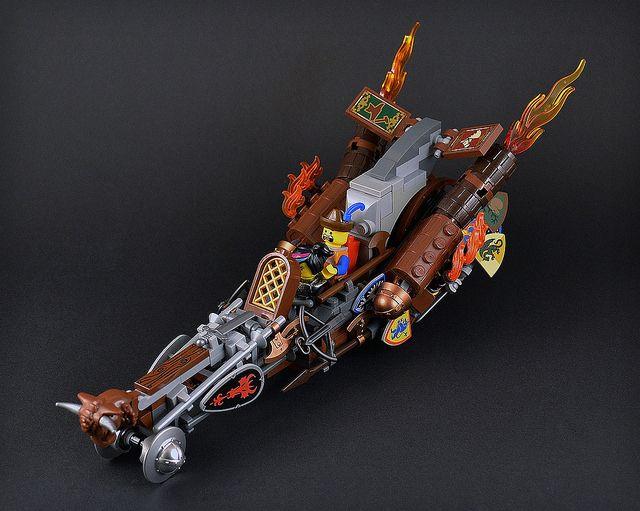 Castle motorbike pursuit by CaptainSmog #lego #steampunk