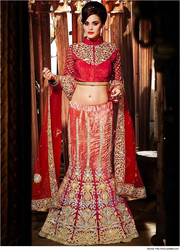 26dc25c2370b26 Top 18 Cutesy Fish Cut Lehengas | Lehenga Collection | Projects to ...