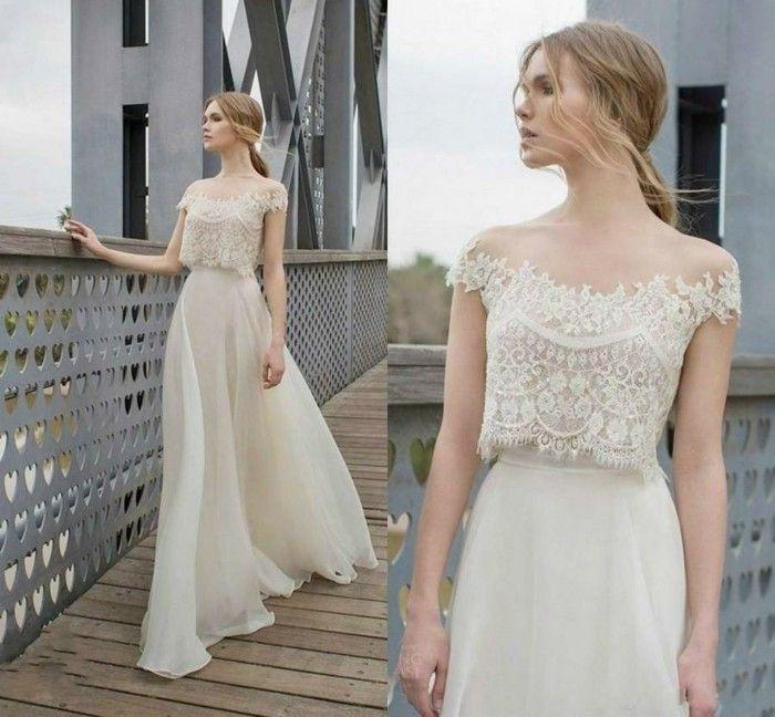 boho hochzeitskleid spitze lange brautkleider | Hochzeitskleider ...