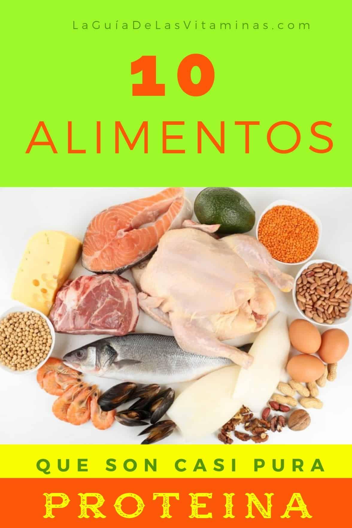 que comidas son ricas en proteinas y vitaminas