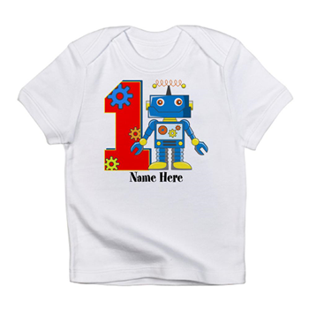 Happy 1st Birthday Celebrate Your Babys First With This Cute Robot