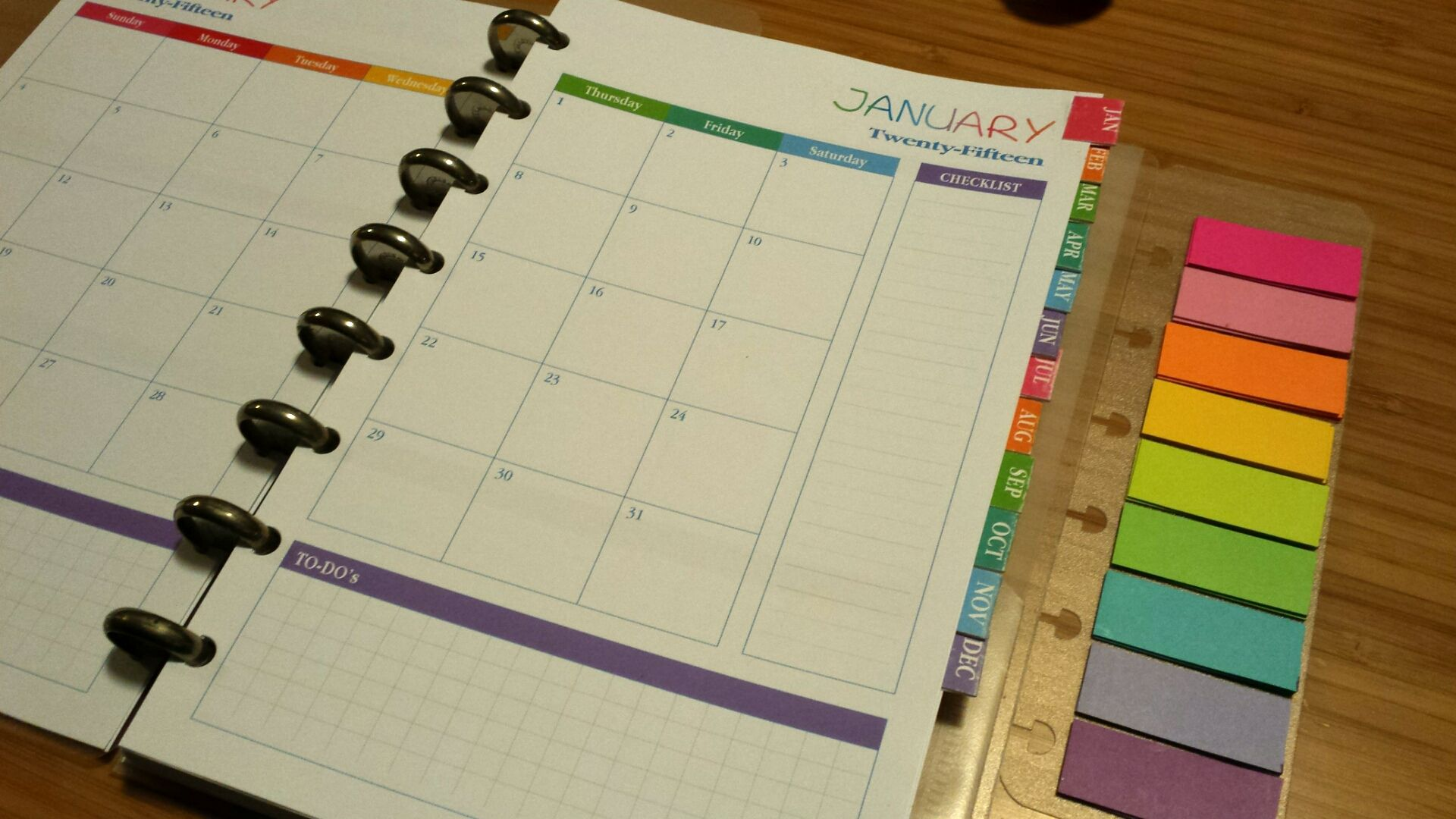 photograph regarding Discbound Planner Printables named Very Beautiful Planner Junior Sizing Company