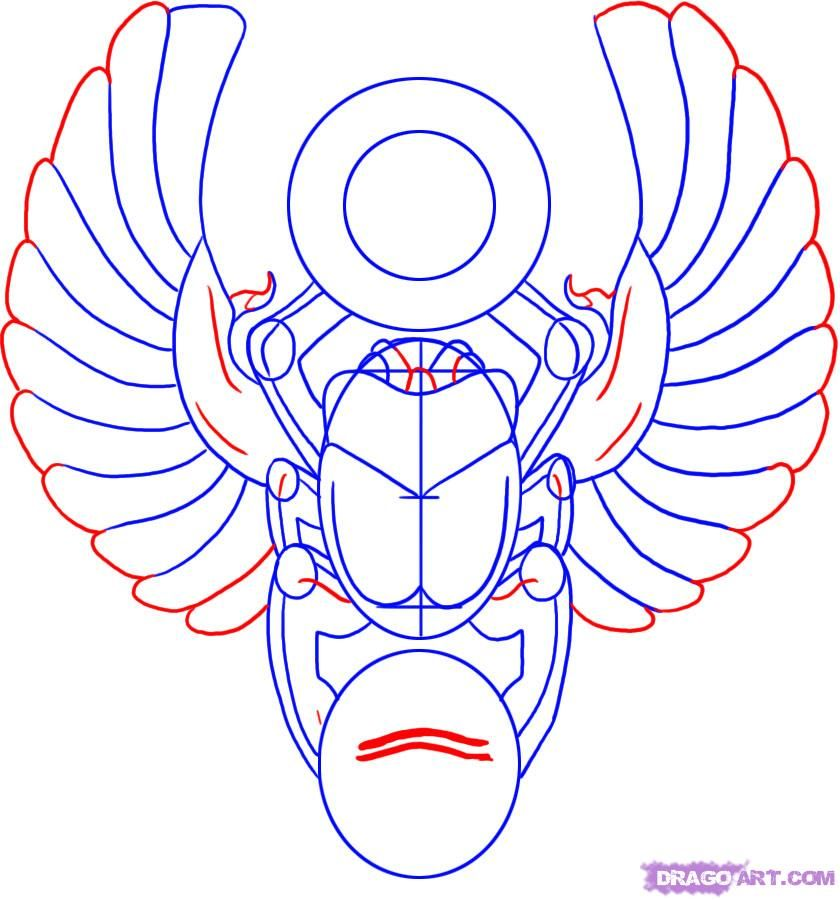 how to draw a scarab design step 4_1_000000004680_5