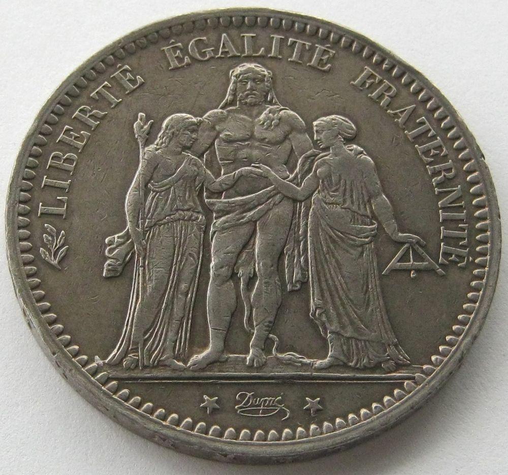 france silver coin 5 francs 1873 a top high grade pieces de monnaie anciennes pinterest