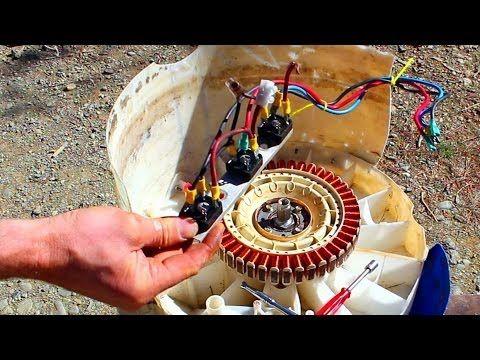 600 Watt Water Powered Generator Made from an Old Washing
