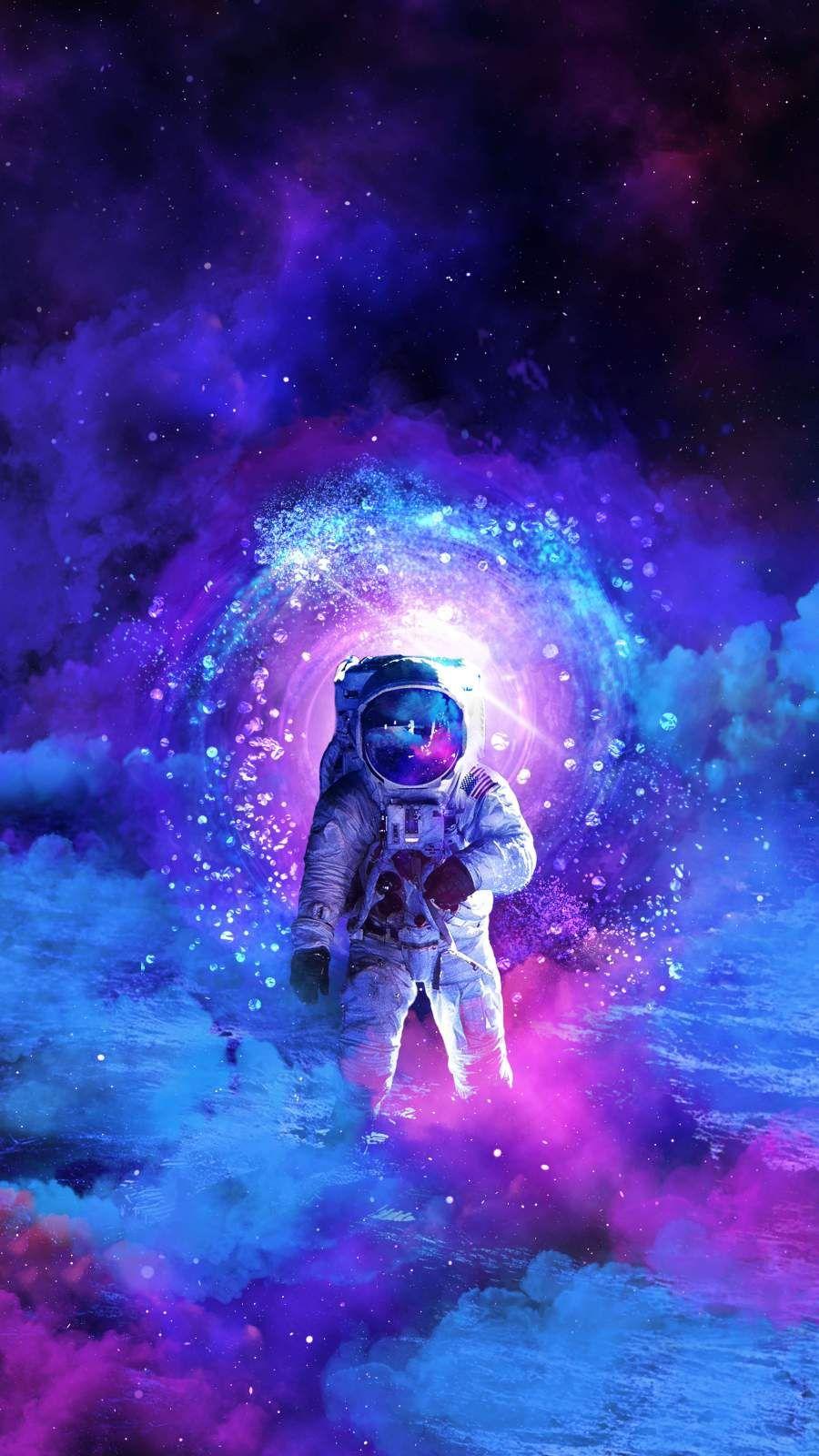 The Cosmonaut Iphone Wallpaper Galaxy Art Astronaut Wallpaper Space Artwork