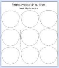 Pirate Eye Patch Outlines Role Play Printables Pirate Eye