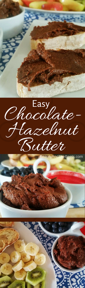 Easy Chocolate Hazelnut Butter by Beauty and the Beets