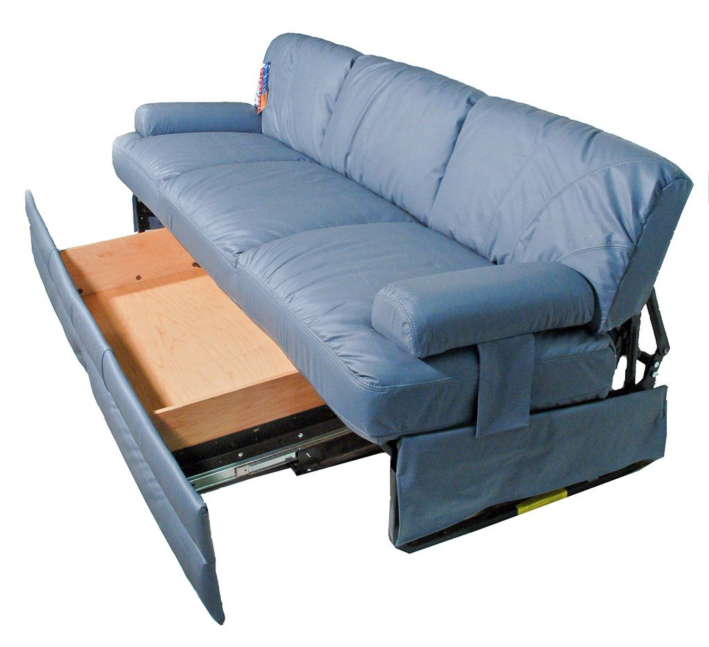 Flexsteel Boomer Rv Sofa Model 4212 76eb 76 Easy Bed Jackknife With Removable Arms Shown Optional Storage Drawer Open