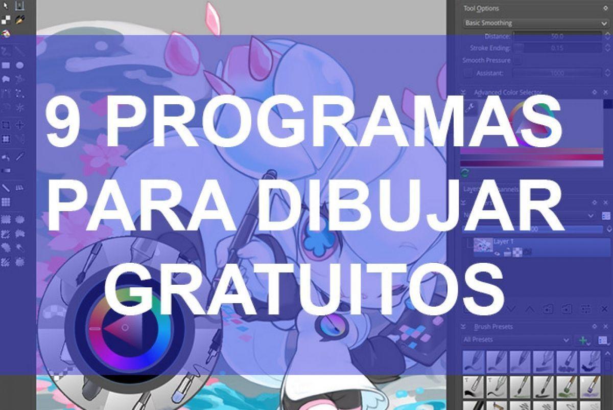 9 Programas Para Dibujar Y Pintar Gratis Programas Para Dibujar Aplicaciones De Dibujo Diseno Grafico Gratis