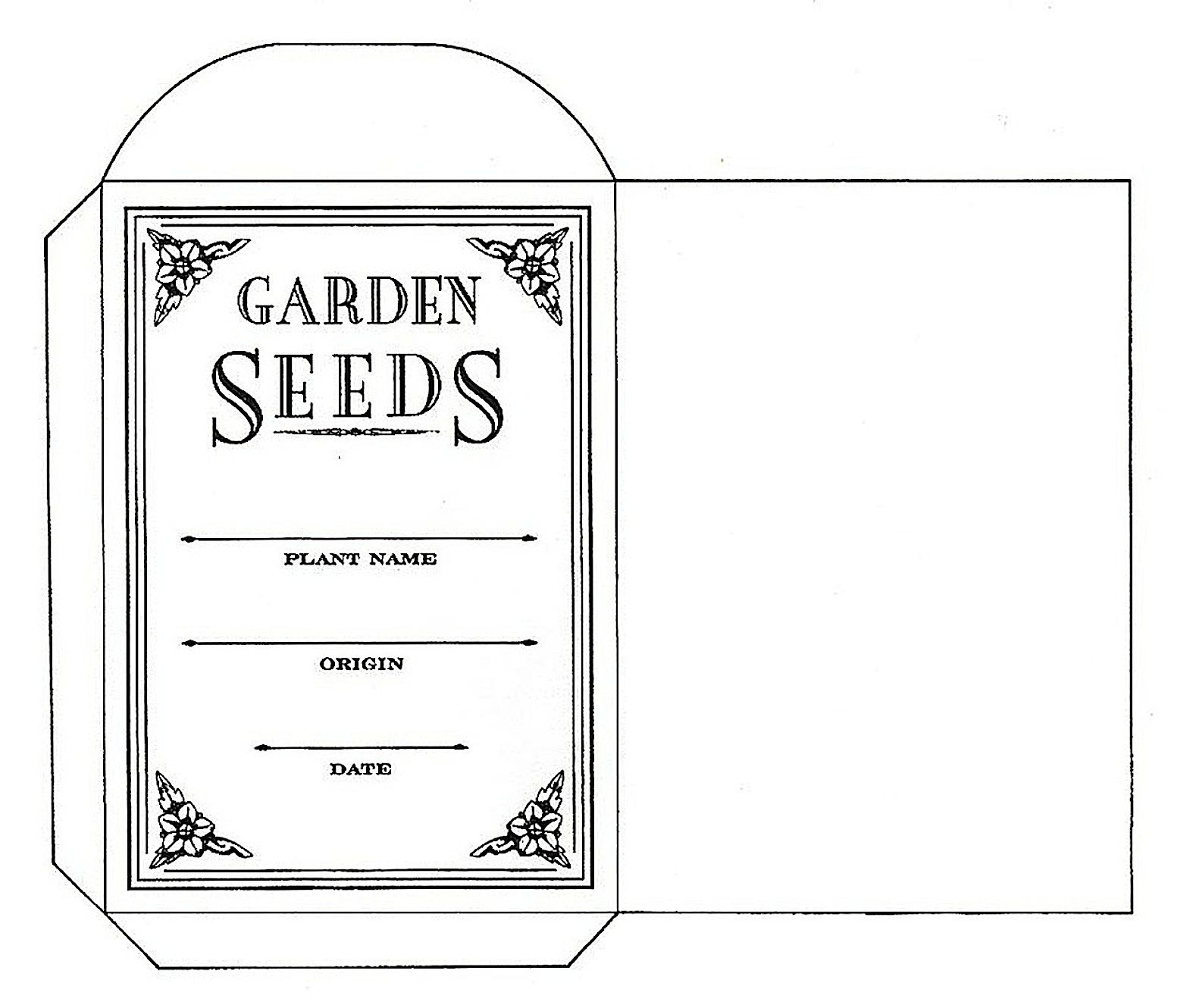 Large Seed Packet Template Google Search Paper Pinterest - Seed packet template