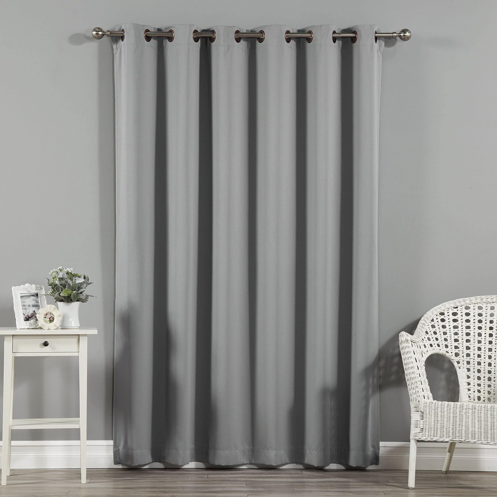 Jasper Solid Extra Wide Thermal Blackout Grommet Single Curtain
