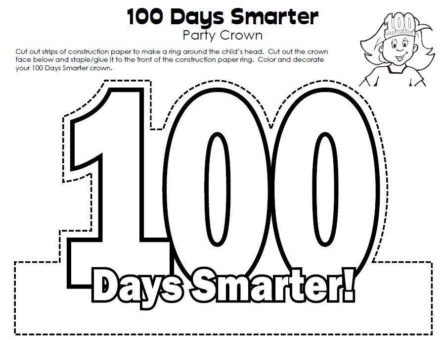 100th Day of School Crown. Link: http://www.superteacherworksheets ...