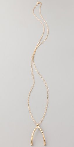 $64 *but sold out* Want one similar   Belle Noel Wishbone Necklace
