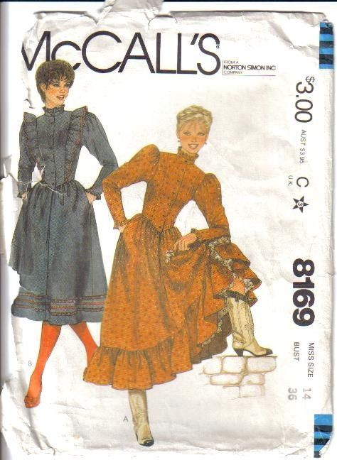 OOP Misses Country Western Wear Cowgirl McCalls Sewing Pattern Your ...