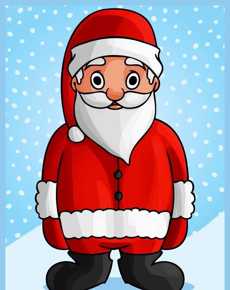 Noël - AlloDessin   Dessin pere noel, Pere noel, Comment ...