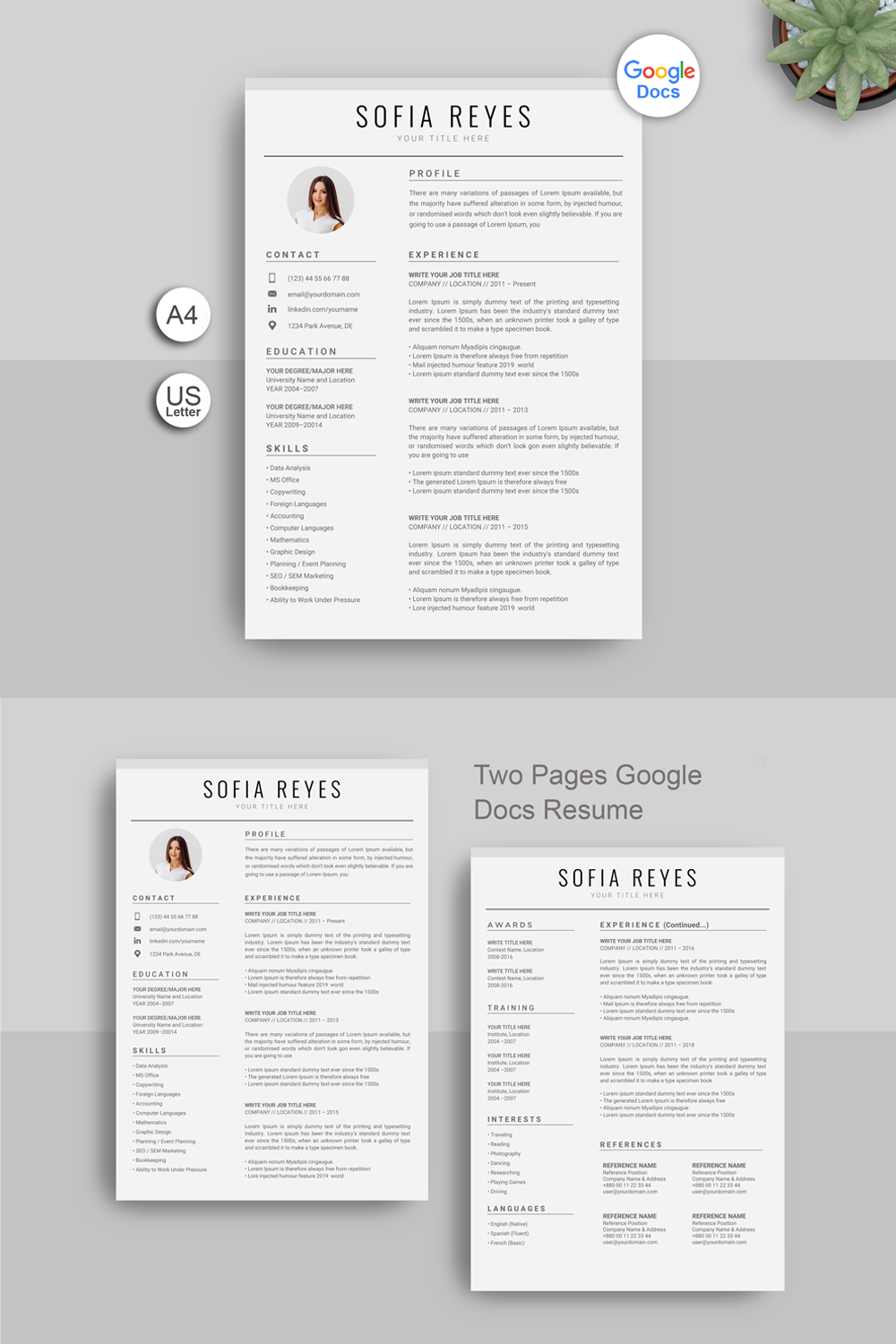 Google Docs Resume Template, Google Docs Resume Instant