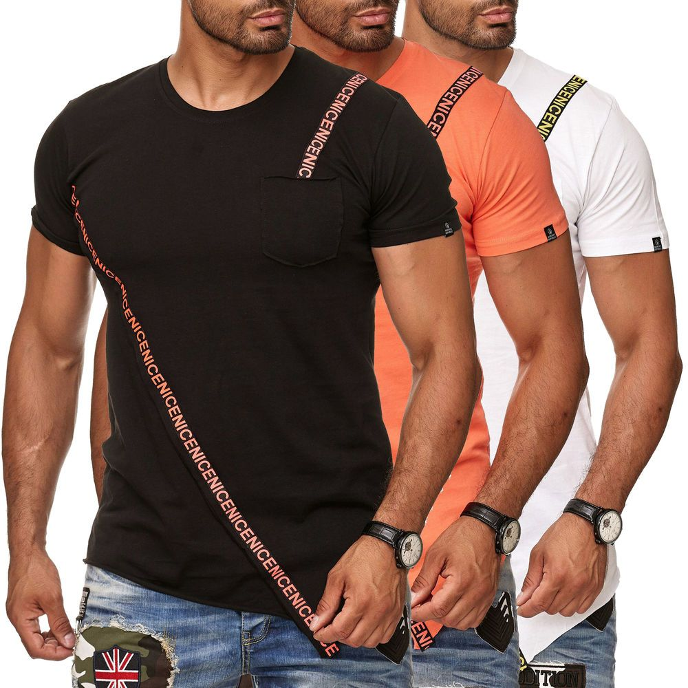 Norths Republic Herren T Shirt Tshirt Asymmetric Oversized