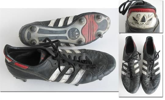 World Cup 1986 Match Worn Player Boots Germany Original Match Worn Football Boots By Stratos S Football Boots Soccer Boots Soccer Cleats Adidas