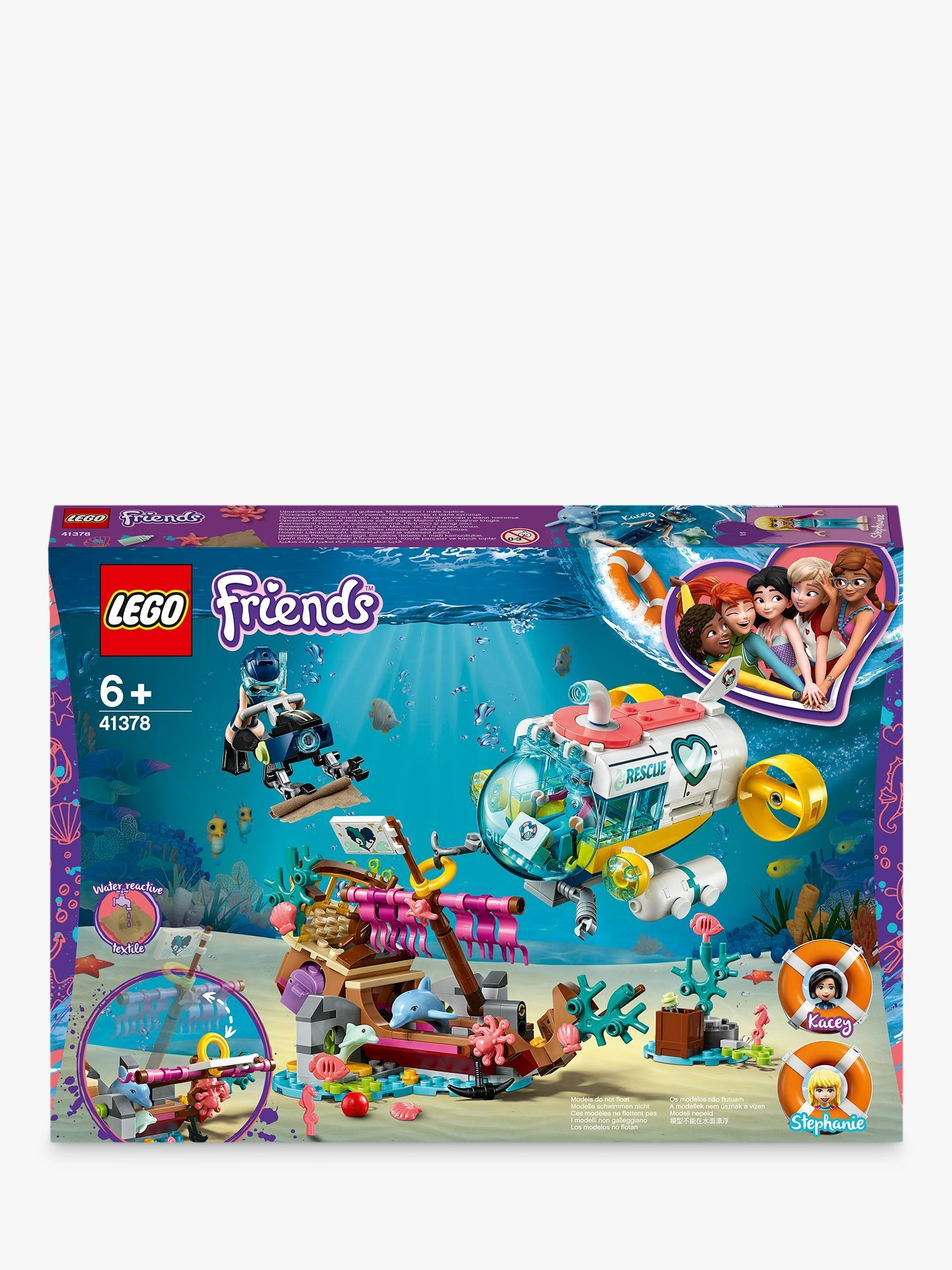 LEGO Friends 41378 Dolphins Rescue Mission with Boat ...