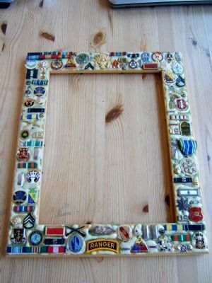 Make A Military Themed Picture Frame Diy Military Crafts Sewing