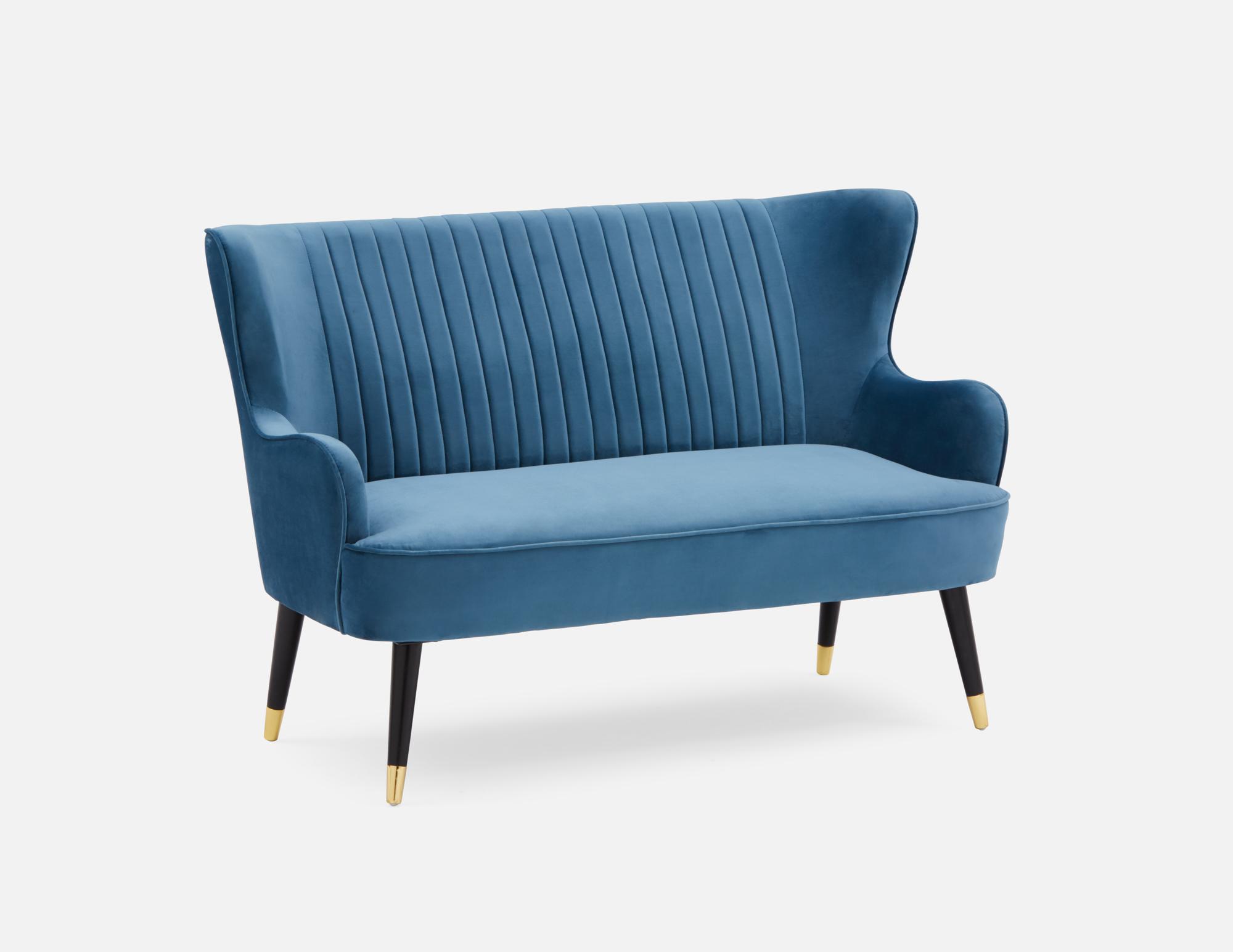 Blue Velvet Loveseat Structube Ellie In 2020 Love Seat Blue