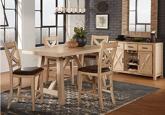 picture of Mango White 5 Pc Counter Height Dining Room from Dining