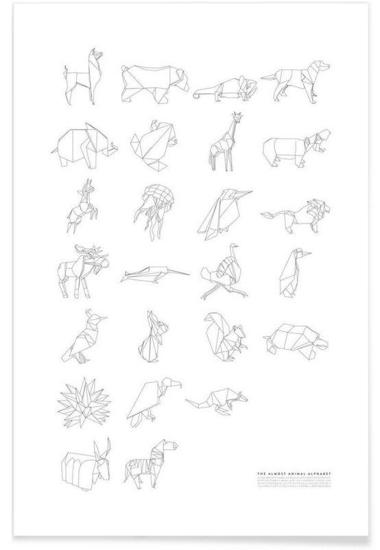 Almost Animal Alphabet als Premium Poster von Julia Marquardt   JUNIQE
