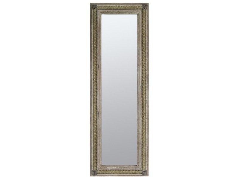 Espejo rectangular de madera envejecida espejos for Espejo madera envejecida