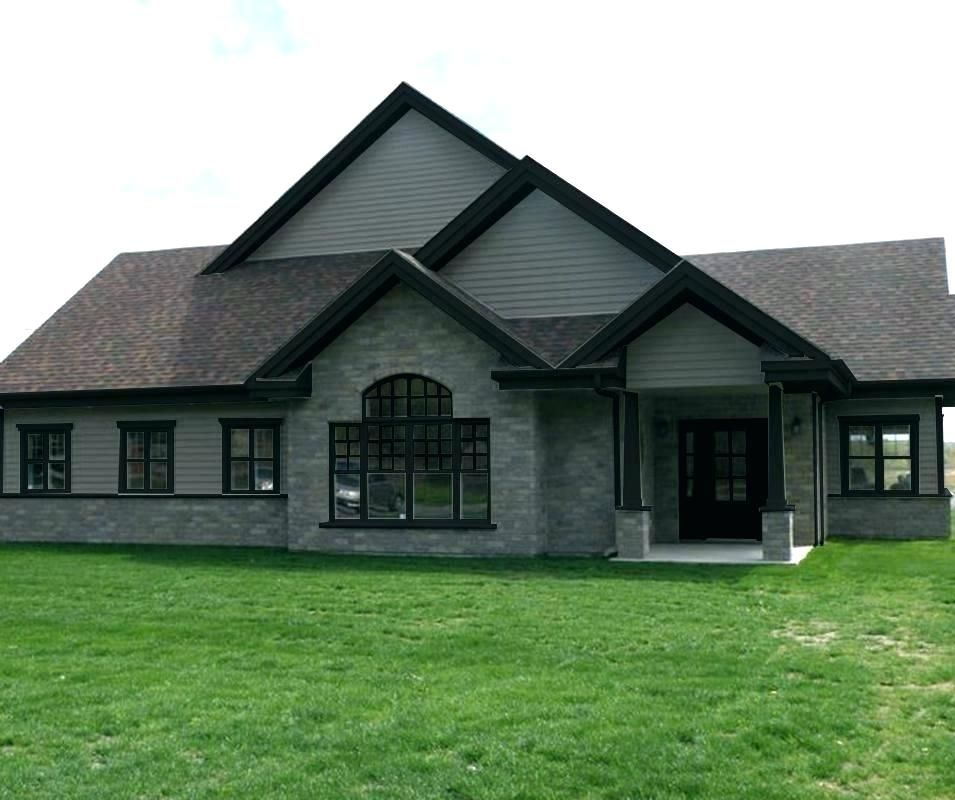Best Gray House With Black Trim Grey House White Trim Black And 400 x 300