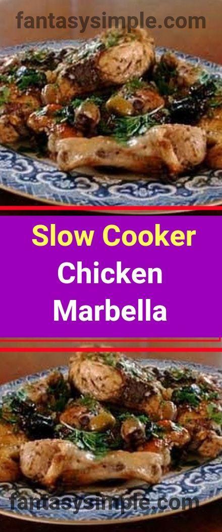 5+SmartPoints+Slow+Cooker+Chicken+Marbella #chickenmarbella 5+SmartPoints+Slow+Cooker+Chicken+Marbella #chickenmarbella