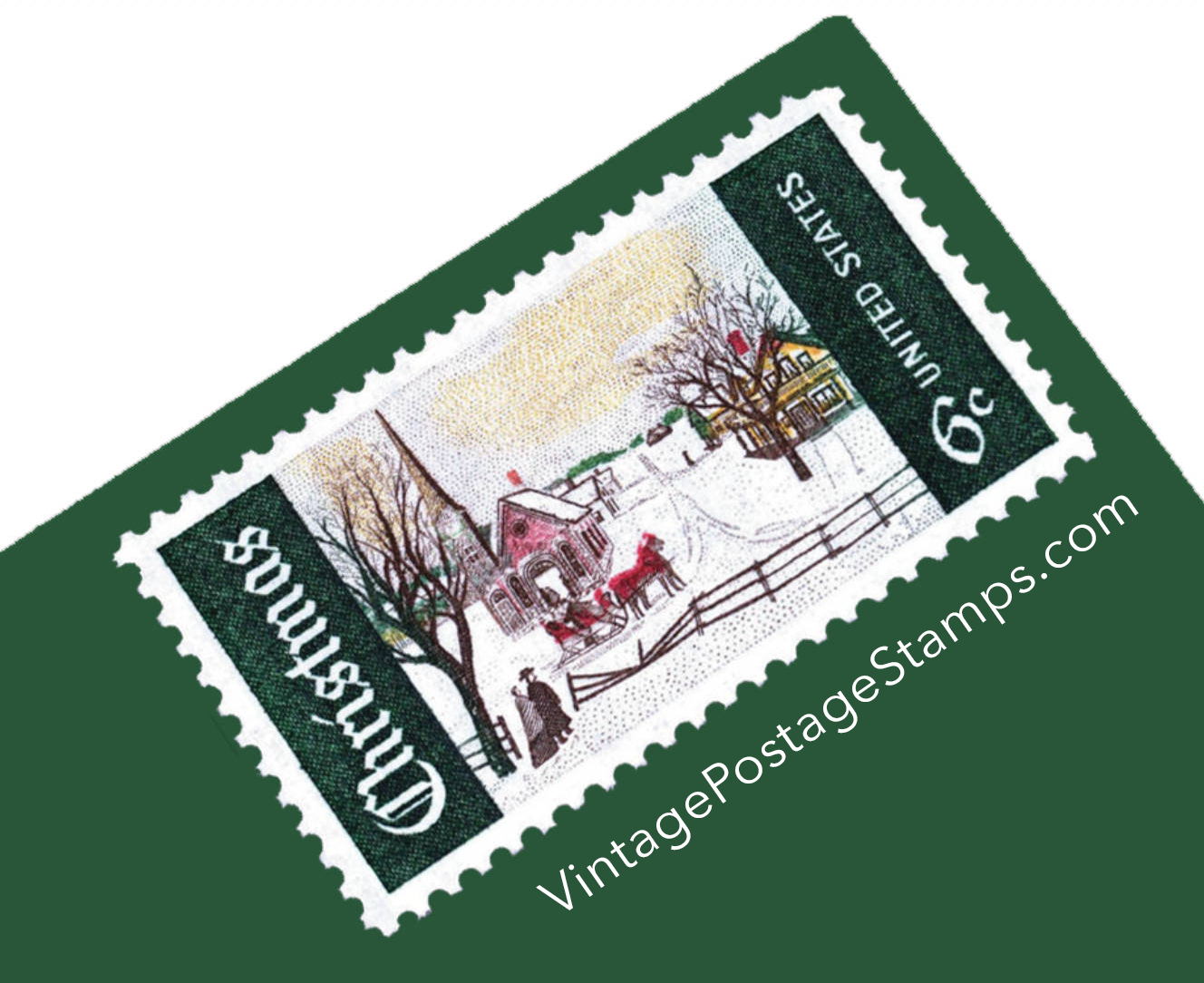 25 Unused Vintage 6 Cent Winter Sunday Postage Stamps These Charming From 1969