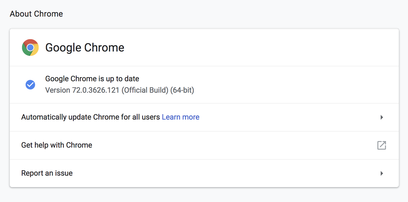 google components not updating