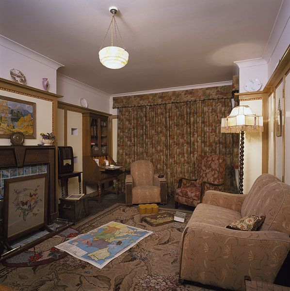The 1940s House Living Room   A Typical 1930s Interior Recreated For The  2001 TV Series