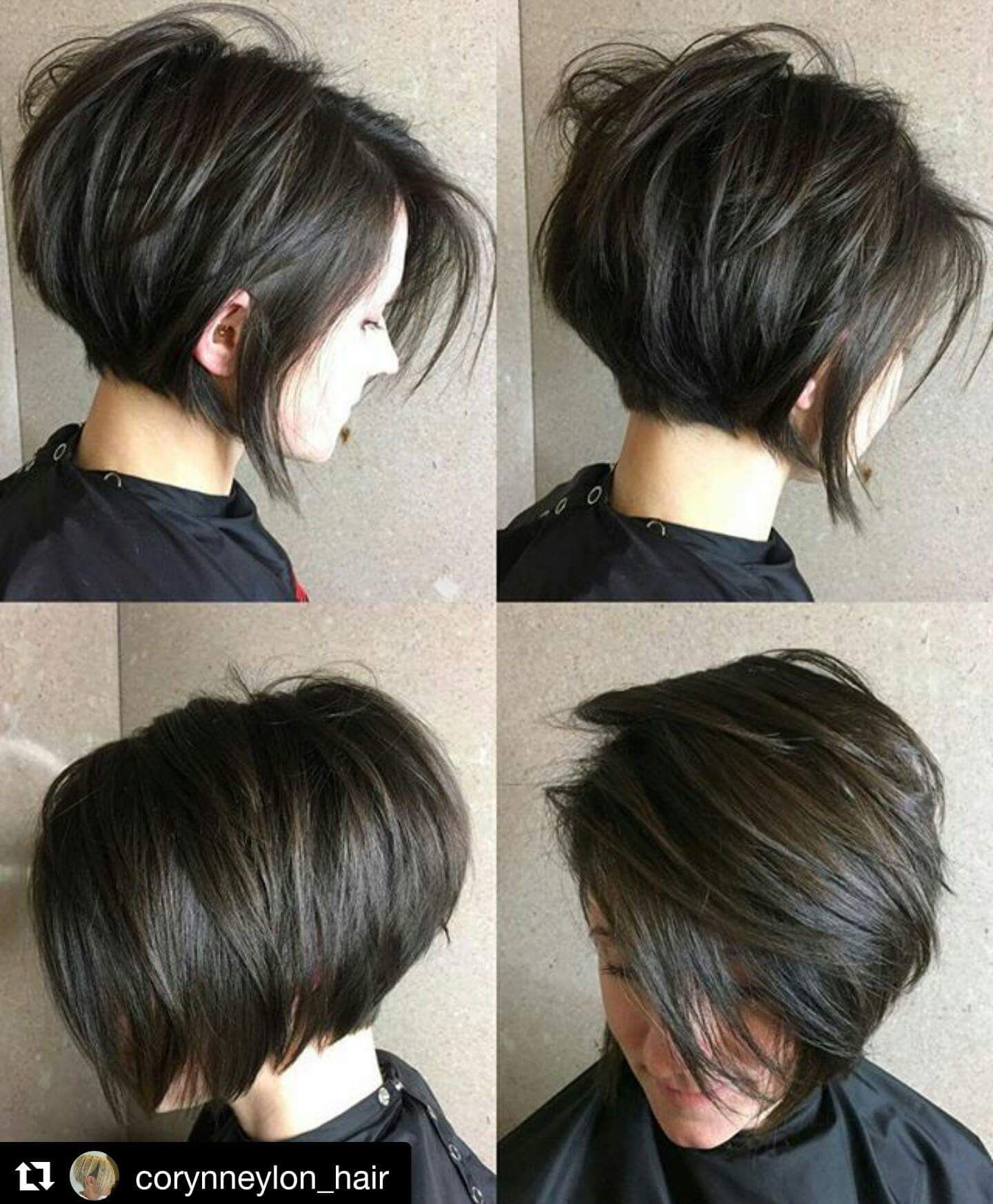 Pin by tessa marie haney on hair pinterest dark hair bobs hair