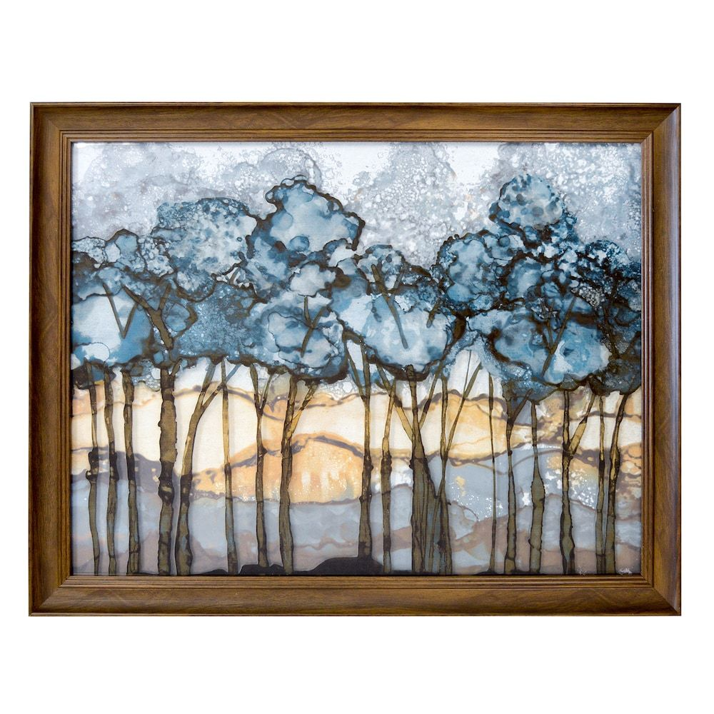 New view forest framed wall art blue framed wall art and products