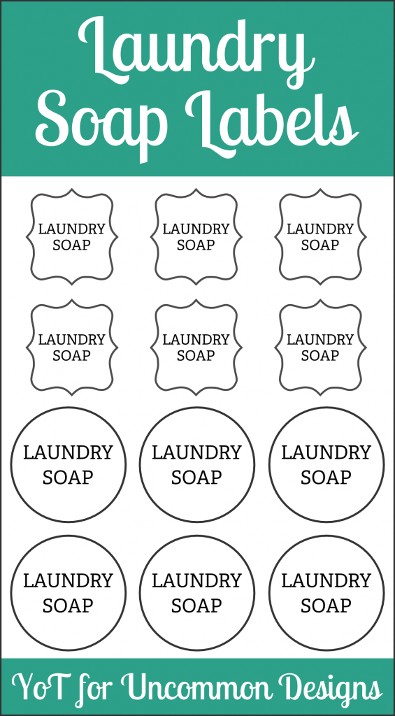 Diy Laundry Soap And Free Printable Labels Labels Printables