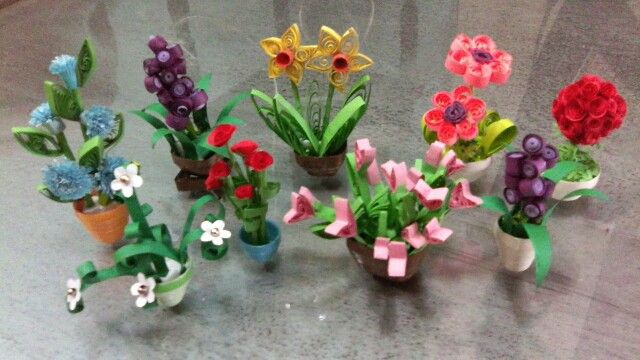 Paper Quilled Miniature Plants Paper Flowers