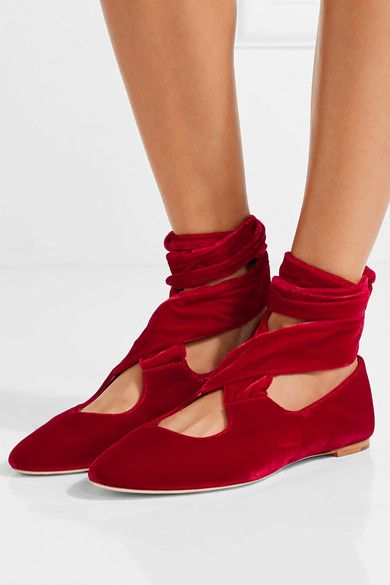 The Row Velvet Elodie Flats discount under $60 choice sale with credit card sale finishline NYRSilUXw