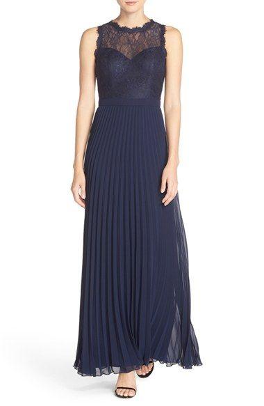 51f851af7ff8 Xscape Lace & Pleat Chiffon Gown (Regular & Petite)   ballgown ...